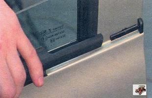 наружный уплотнитель стекла двери