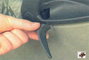 ручка открывания задней двери Лада Калина ВАЗ 1118