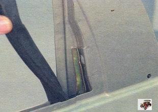 задний уплотнитель стекла двери Лада Калина ВАЗ 1118