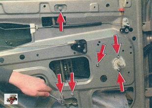 Снятие и установка стеклоподъемника задней двери Лада Калина ВАЗ 1118