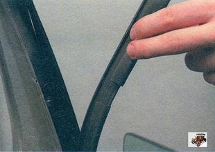 боковой уплотнитель стекла задней двери Лада Калина ВАЗ 1118