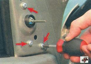 винты крепления наружного бокового зеркала заднего вида Лада Калина ВАЗ 1118