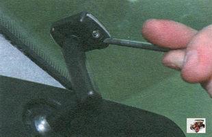 снятие, замена и установка внутреннего зеркала заднего вида Лада Калина ВАЗ 1118