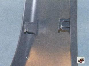 крючки крепления облицовки центральной стойки кузова Лада Калина ВАЗ 1118