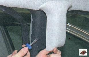 накладка верхней облицовки центральной стойки Лада Калина ВАЗ 1118
