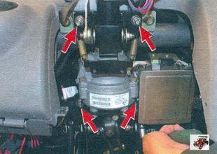 гайки крепления электроусилителя рулевого управления Лада Калина ВАЗ 1118