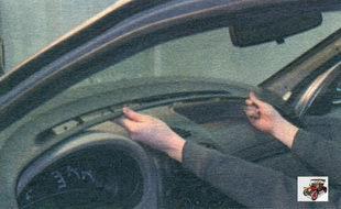 облицовка панели приборов Лада Калина ВАЗ 1118