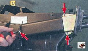 Снятие и установка радиатора отопителя Лада Калина ВАЗ 1118