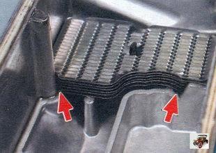 сетки в системе вентиляции картера двигателя Лада Калина ВАЗ 1118