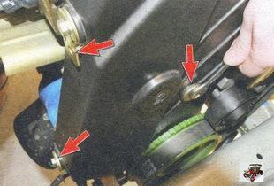 винты крепления передней крышки ремня ГРМ Лада Калина ВАЗ 1118