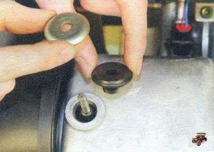 шайба, резиновая втулка крышки головки блока цилиндров