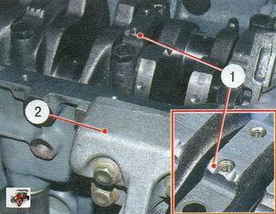 установка крышек коренных подшипников в соответствии с метками