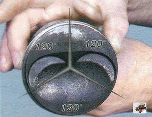 порядок установки поршневых колец Лада Калина ВАЗ 1118