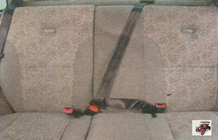 ремни безопасности на задних сиденьях Лада Калина ВАЗ 1118