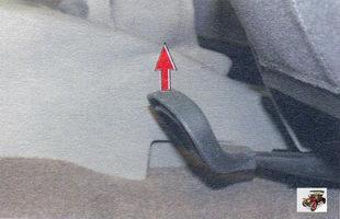 блокирующий рычаг для регулировки положения передних сидений Лада Калина ВАЗ 1118