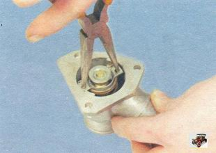 фиксирующая пластина термостата Лада Калина ВАЗ 1118