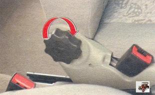 ручка для регулировки наклона спинки сиденья Лада Калина ВАЗ 1118