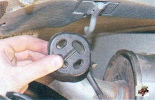передняя подушка подвески основного глушителя Лада Калина ВАЗ 1118