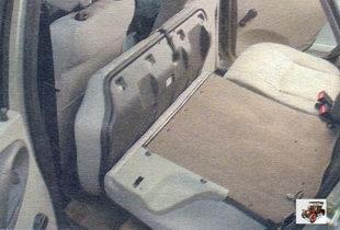 складывание заднего сидения Лада Калина ВАЗ 1118