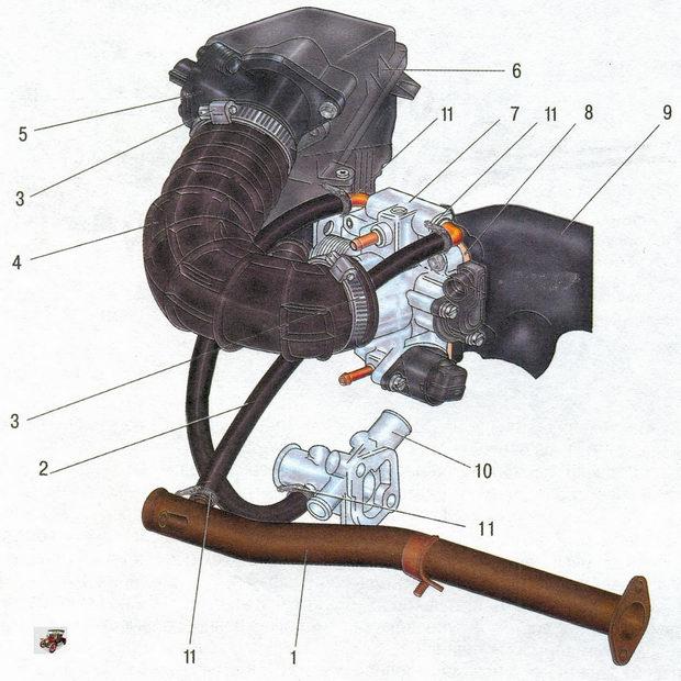 Система подачи воздуха Лада Калина ВАЗ 1118
