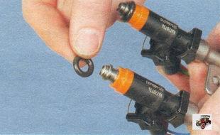 уплотнительное кольцо форсунки со стороны впускной трубы Лада Калина ВАЗ 1118