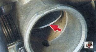 проверка положения дроссельной заслонки Лада Калина ВАЗ 1118 (полностью открыта)