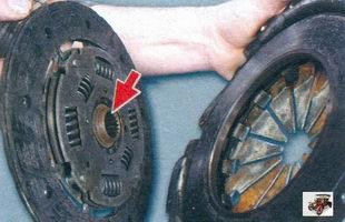 выступающая часть ступицы ведомого диска сцепления Лада Калина ВАЗ 1118