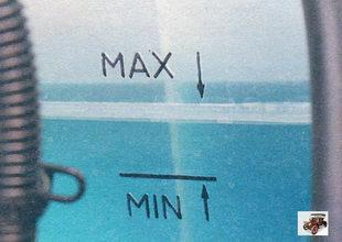 уровень жидкости в расширительном бачке Лада Калина ВАЗ 1118