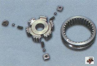 ступица, сухари с шариками, муфта синхронизатора Лада Калина ВАЗ 1118