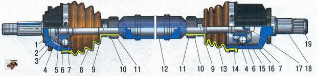Привод переднего колеса Лада Калина ВАЗ 1118