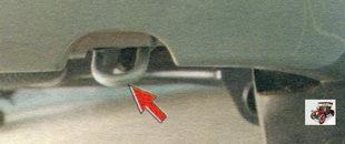 задняя проушина для буксировки автомобиля Лада Калина ВАЗ 1118