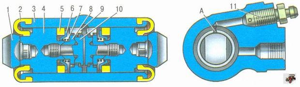 колесный тормозной цилиндр Лада Калина ВАЗ 1118