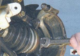 снятие, установка и замена тормозного диска переднего колеса Лада Калина ВАЗ 1118