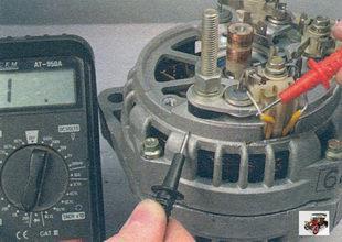проверка замыкания обмоток статора генератора на «массу»