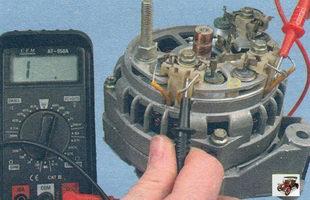 проверка замыкания обмоток статора генератора между собой