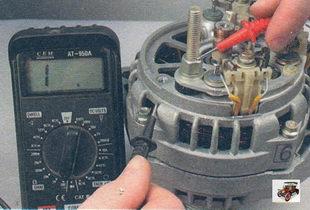проверка выпрямительного блока генератора Лада Калина ВАЗ 1118