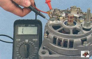 проверка диодов выпрямительного блока генератора