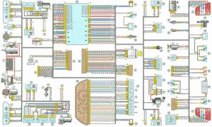 Схема электрооборудование автомобиля Лада Калина / Lada Kalina (ВАЗ 1118)