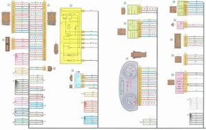 Электрическая схема 2. Схема соединения жгута проводов панели приборов на автомобиле Лада Гранта ВАЗ 2190