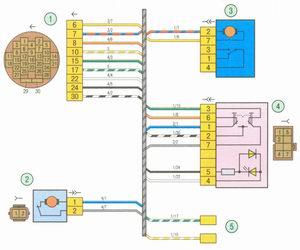 Электрическая схема 5. Схема соединения жгута проводов правой передней двери на автомобиле Лада Гранта ВАЗ 2190