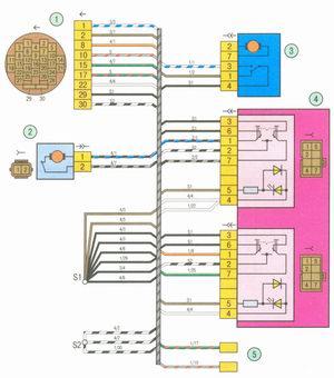 Электрическая схема 6. Схема соединения жгута проводов левой передней двери на автомобиле Лада Гранта ВАЗ 2190