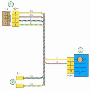 Электрическая схема 7. Схема соединения жгута проводов задней двери на автомобиле Лада Гранта ВАЗ 2190