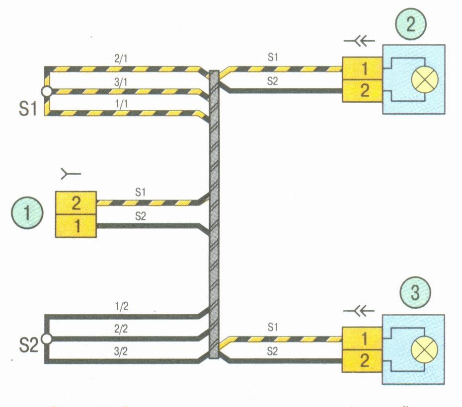 Схема соединения жгута