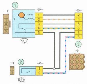 Электрическая схема 9. Схема соединения жгута проводов короба воздухопритока на автомобиле Лада Гранта ВАЗ 2190