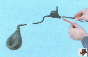 проверка клапана продувки адсорбера