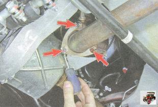 усика стопорной пластины фланца приемной трубы дополнительного глушителя