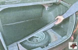 коврик пола в багажнике