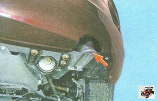передняя буксировочная петля на автомобиле Лада Гранта ВАЗ 2190