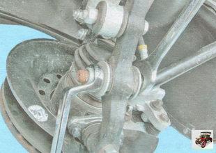 гайка крепления растяжки рычага передней подвески к поворотному рычагу