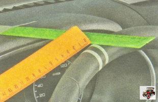 проверка свободного хода рулевого колеса (люфт руля) Лада Гранта ВАЗ 2190
